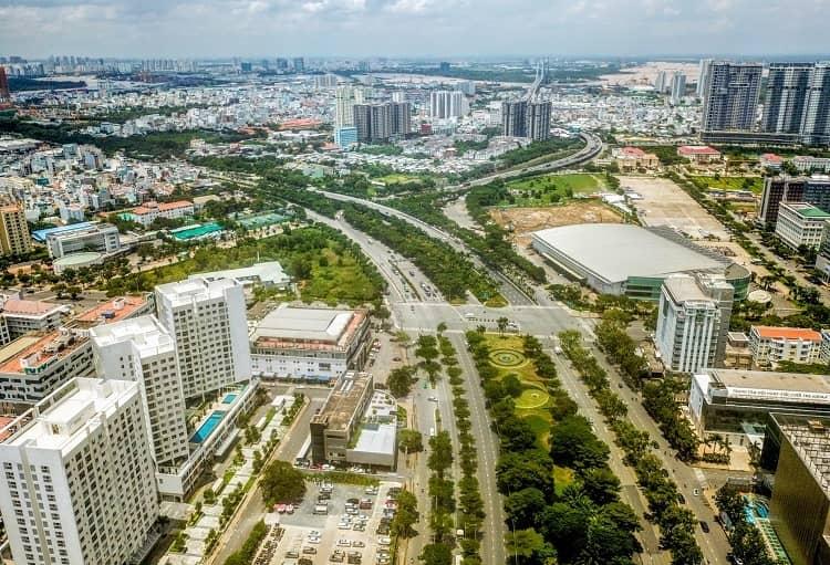 Trục đường Nguyễn Văn Linh đoạn giao cắt Nguyễn Lương Bằng
